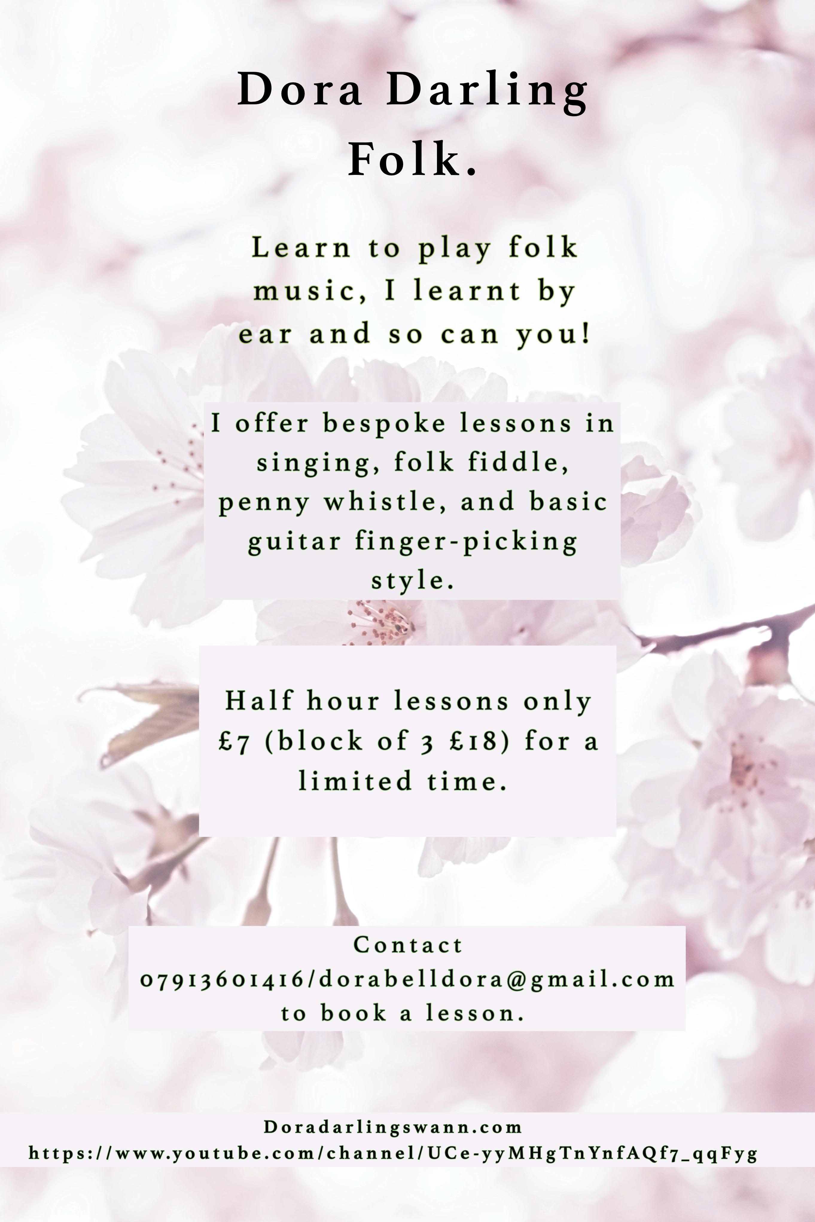 lessons flyer
